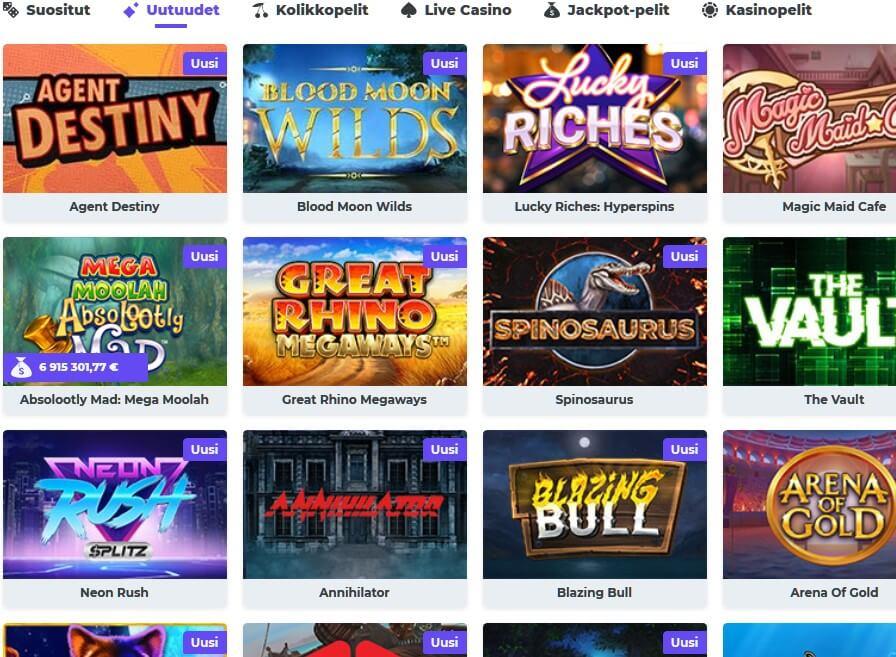 boost casino pelivalikoima
